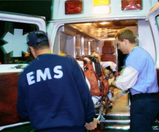 Loading Sudden Cardiac Arrest Victim in Ambulance